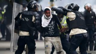 Street protests in Venezuela