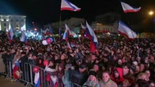 ရုရှားနဲ့ပေါင်းဖို့ လူထုက တခဲနက်မဲပေးခဲ့