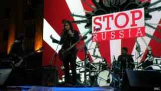 Акция STIOP RUSSIA в Тбилиси