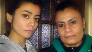 صبرية وابنتها أنسام