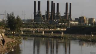 محطة الكهرباء في غزة