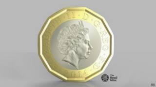 新一英鎊硬幣設計圖
