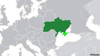 Mapa de Ucrania en Wikipedia