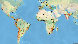 Mapa global de conflictos ecológicos