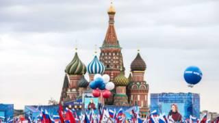 В Москве присоединение Крыма отпраздновали митингом на Красной площади
