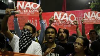 Protesto em São Paulo no dia 13 de março