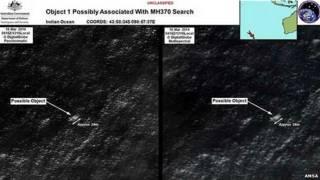 लापता मलेशियाई विमान के मलबे की तस्वीरें