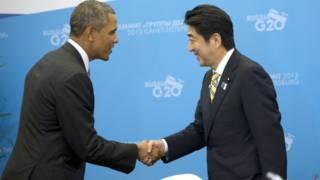 बराक ओबामा और शिंजो अबे