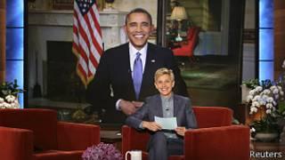 Barack Obama en en programa de DeGeneres