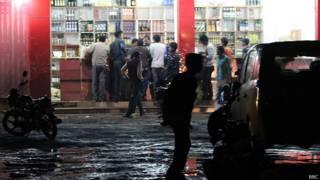 भारत के छत्तीसगढ़ में शराब की दुकान
