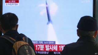 Испытание ракет в КНДР