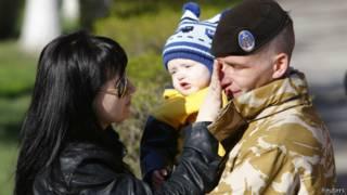 Украинский десантник и его семья