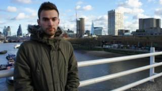Jonny Benjamin em Londres (Rethink Mental Illness)