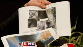 Imágenes de satélite de posibles restos