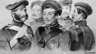 Герои Крымской войны (в центре - Петр Кошка)