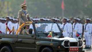 Burma's Chief of Staff, Sr Gen Min Aung Hlaing