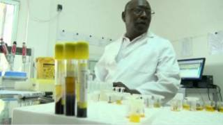 Daktari wa Guinea kwenye maabara