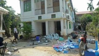 NGO Buildings were attacked in Sittwe