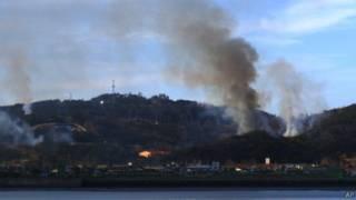 Южнокорейский остров под обстрелом в 2010 году