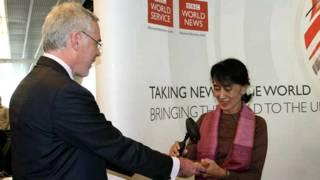 昂山素季訪問BBC國際部