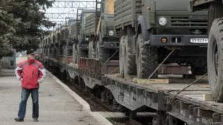 Российские военные грузовики