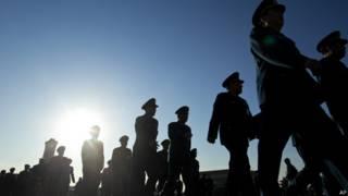 出席全國人大會議的解放軍代表(5/3/2014)