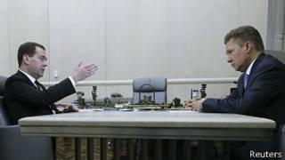 Дмитрий Медведев и Алексей Миллер