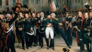 Прощание Наполеона с гвардией в Фонтенбло 20 апреля 1814 года (картина Антуана Монфора)