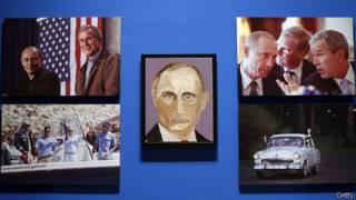 Портрет Владимира Путина кисти Джорджа Буша
