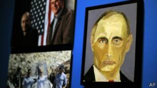 Портрет Владимира Путина работы Джорджа Буша-старшего