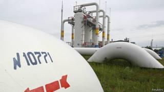 Газовая станция на территории Украины