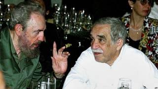 Fidel Castro y Gabriel García Márquez. Foto AFP.