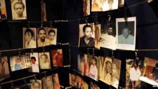 Memorial às vítimas do massacre em Ruanda (AFP)