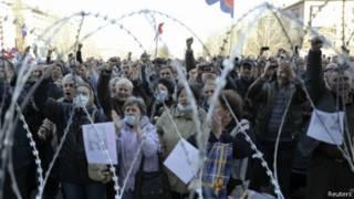 Протест в Донецке