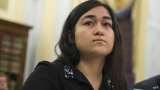 土赫提的19岁女儿菊尔·伊力哈木(08/04/2014)