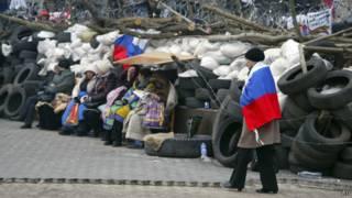 Здание ОГА в Донецке находится в руках пророссийских митингующих