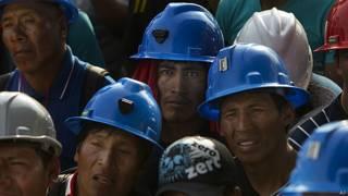 Mineros peruanos