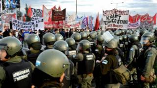 Argentina em greve. AFP