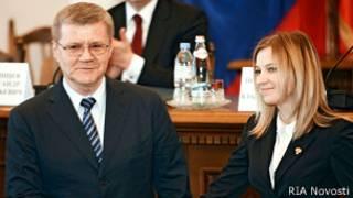 Юрий Чайка и Наталья Поклонская