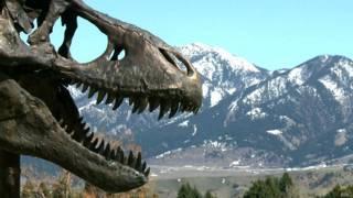 Бронзовая голова динозавра