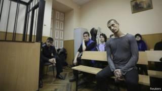 Павленский на суде