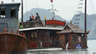 Tàu Dream Voyage bị đắm ở Hạ Long năm 2011