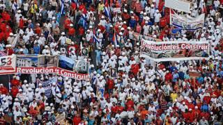 Marcha por el 1° de mayo en La Habana