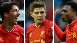 利物浦的蘇亞雷斯、傑拉德和斯圖裏奇榜上有名