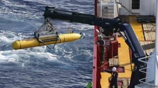 الغواصة الآلية بلوفين-112 المستخدمة في البحث عن الطائرة الماليزية المفقودة في المياه