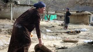 Таджикский двор после оползня