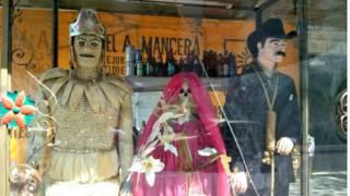 Loja de produtos ligados à Santa Muerte  (BBC)