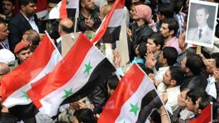 सीरिया में राष्ट्रपति बशर-अल-असद समर्थक