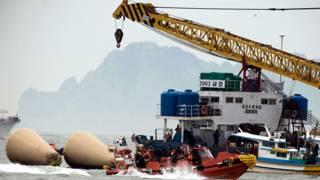 दक्षिण कोरिया नौका हादसा, राहत और बचाव का कार्य