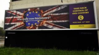 獨立黨選舉廣告牌